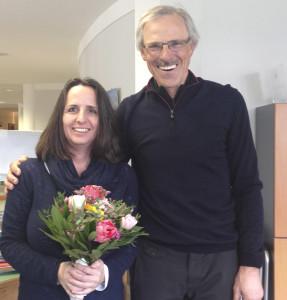 Ein kleines Dankeschön an Linda Cordes von Präsident Hermann Wagenhäuser.